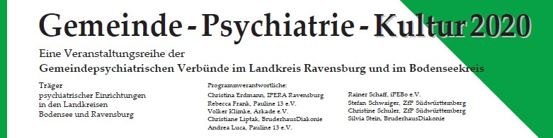 Gemeinde Psychiatrie Kultur 2020